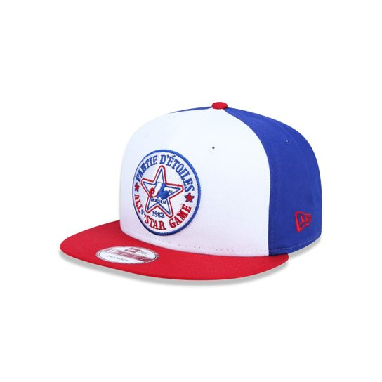 209bbe6189 Boné 950 Original Fit Montreal Expos MLB Aba Reta Snapback New Era -  Branco+Azul