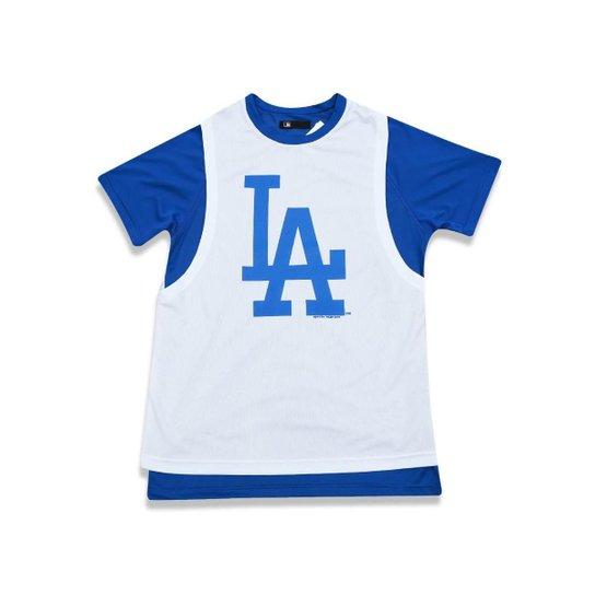 b8de8b25a Camiseta Los Angeles Dodgers MLB Era Masculina - Branco+Azul Royal