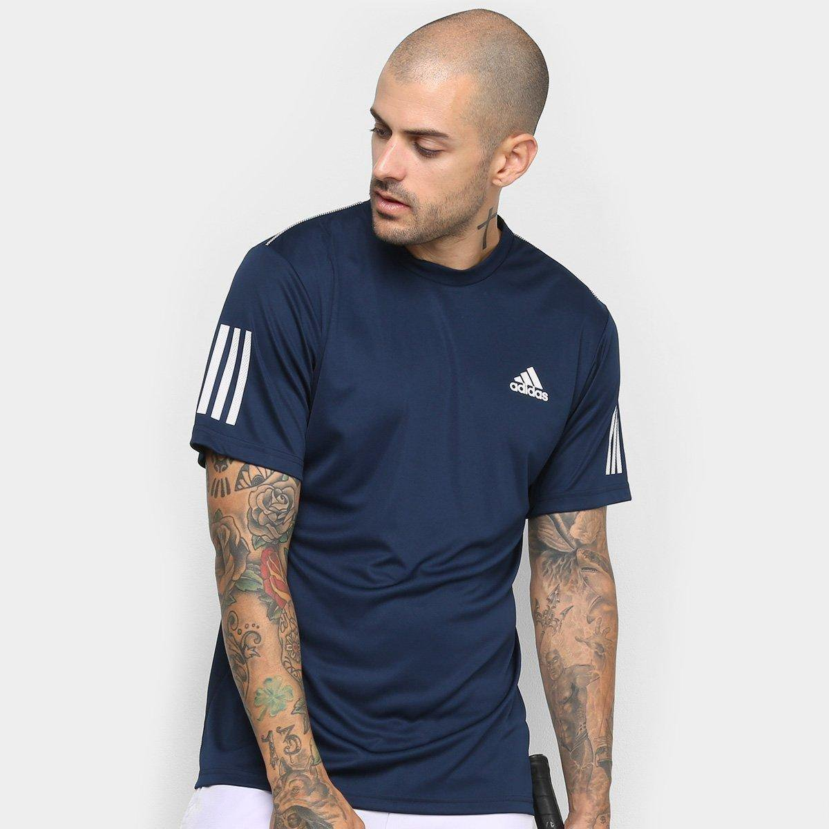 Camiseta Adidas Club 3 Stripes Masculina