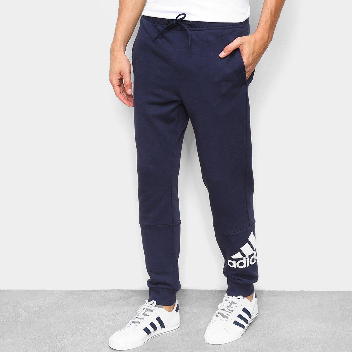 Calça Moletom Adidas Logo Masculina