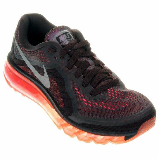 ac77dcecbf Tênis Nike Air Max 2014 - Chumbo+Vermelho
