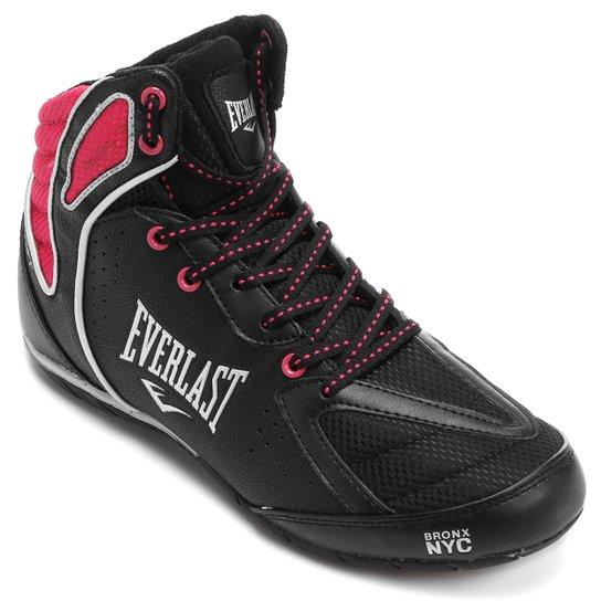 4cba5787c54c8 Tênis Cano Alto Everlast Strike Feminino - Preto e Pink | Netshoes