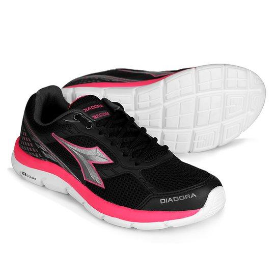dbe7b05bee2 Tênis Diadora Strong Feminino - Preto e Pink - Compre Agora