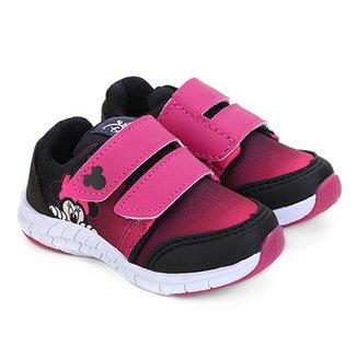 49b8bef27f4 Tênis Infantil Disney com Velcro Minnie Feminino