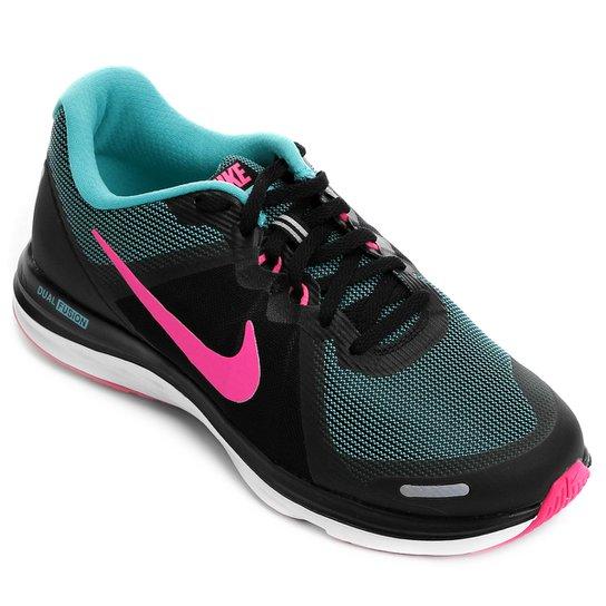 0424fcc6b96a1 Tênis Nike Dual Fusion X 2 Feminino - Preto+Pink