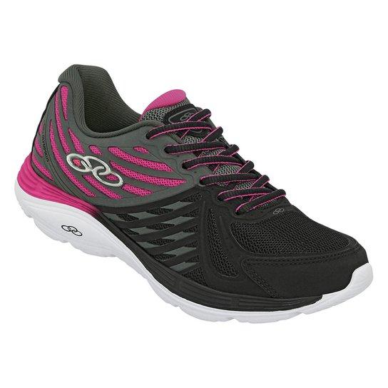b931f68d179 Tênis Olympikus Flix 2 Feminino - Preto e Pink - Compre Agora