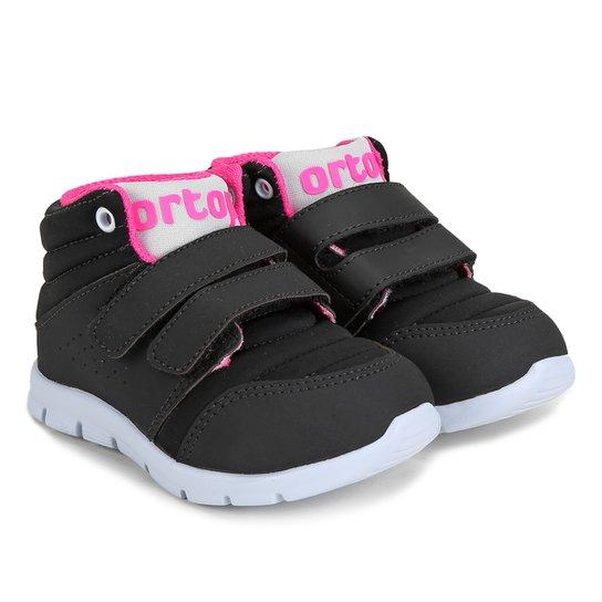 15c1fc2f37f Tênis Infantil Ortopé Eva Baby Feminino - Preto e Pink - Compre ...