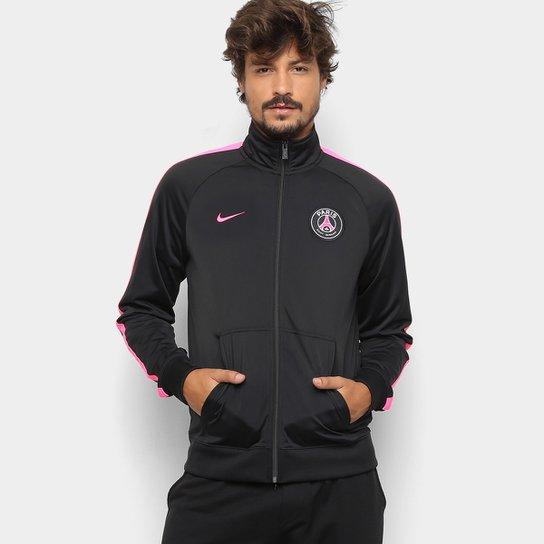 d3d5dbdd00ed9 Jaqueta Paris Saint-Germain Nike Track Masculina - Preto e Pink ...