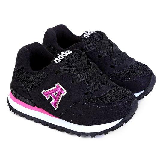 3bd582c03 Tênis Infantil Addan Jogger - Preto e Pink | Netshoes