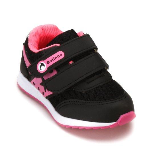 fe6c21bce6f Tênis Botinho Infantil 783 - Preto e Pink - Compre Agora