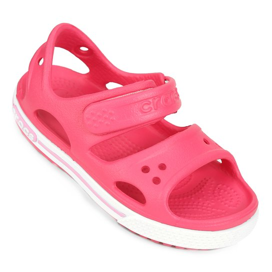 Sandália Crocs Infantil Crocband II PS - Pink - Compre Agora   Netshoes b48742eba9