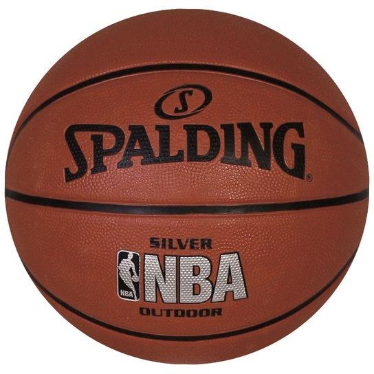 f5631804a2 Bola Spalding Basquete Silver NBA Outdoor | Netshoes