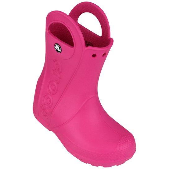 9abd67f3d9ba Bota Crocs Handle It Rain Infantil - Pink - Compre Agora
