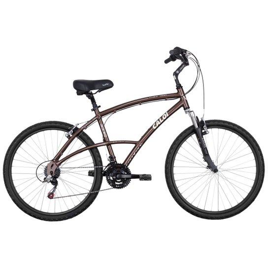 f750ed9fd Bicicleta Caloi 500 Sport - Aro 26 - 21 Marchas - Alumínio - Marrom