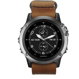 4e417822a7 Relógio Garmin Fenix 3 Safira Couro NATO C GPS