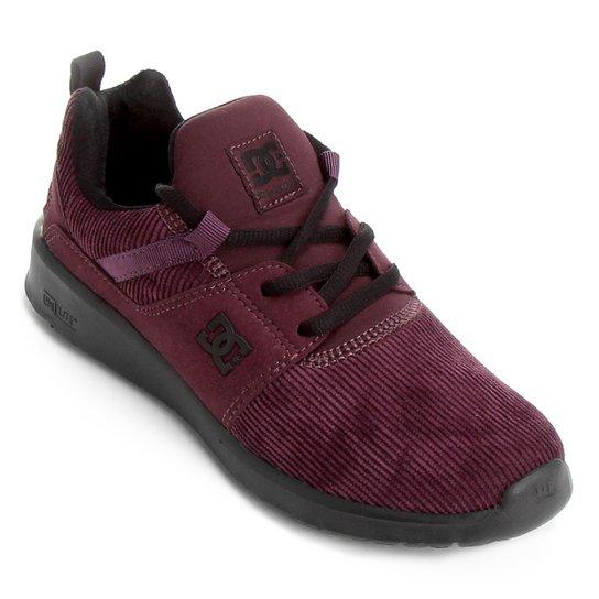 e38f732fd9b Tênis DC Shoes Heathrow Tx Se Feminino - Bordô - Compre Agora
