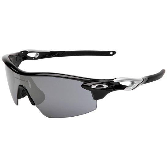 4746a6a6e Óculos Oakley Radarlock Pitch - Iridium - Preto+Prata