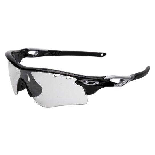 5faa1150e6 Óculos Oakley Radarlock Path - Iridum Photocromic Vented - Preto+Prata