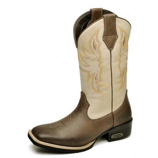 Bota Country Top Franca Shoes Country - Marrom - Compre Agora  2f1d40dd029