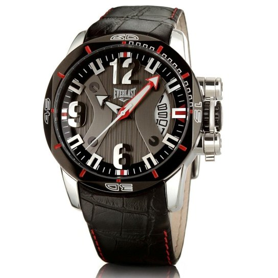 33821ba30b2 Relógio Pulso Everlast Analógico E227 Masculino - Marrom - Compre ...
