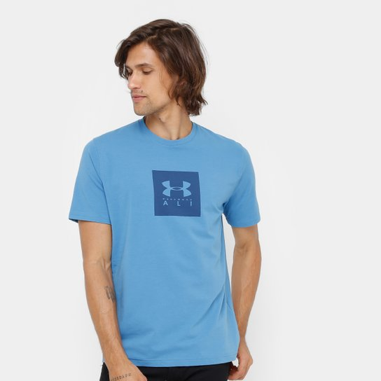 Camiseta Under Armour Muhammad Ali Core Rumble Masculina - Azul ... 6a03c3af3a1b4