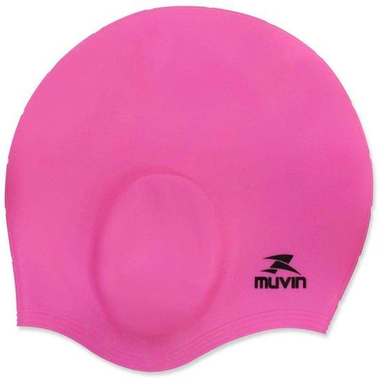 a1579c6da Touca de Natação em Silicone Orelha Muvin TCS-500 - Pink