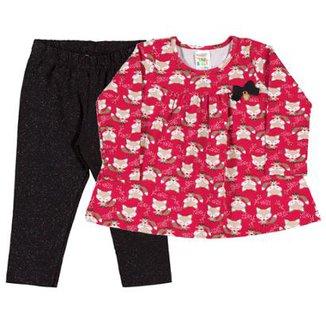 fba2633acd285 Conjunto Rotativo Bebê Menina Cotton