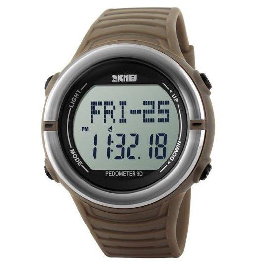 1684ca6b440 Relógio Skmei Digital Pedômetro 1111 - Marrom - Compre Agora
