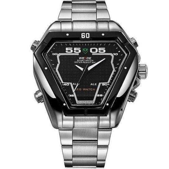 c52efc48048 Relógio Weide Anadigi WH-1102 - Preto e Prata - Compre Agora