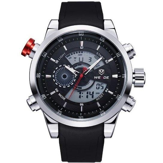 846b4cc6e73 Relógio Weide Anadigi WH-3401 - Preto e Prata - Compre Agora