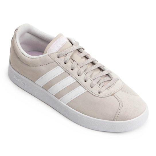 Tênis Adidas Vl Court 2 Feminino - Bege e Branco - Compre Agora ... 1d65ca5d2a62d