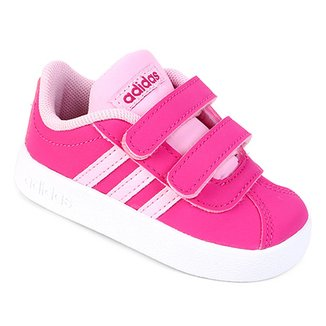 5fdcfb9d181 Tênis Infantil Adidas Velcro VL Court