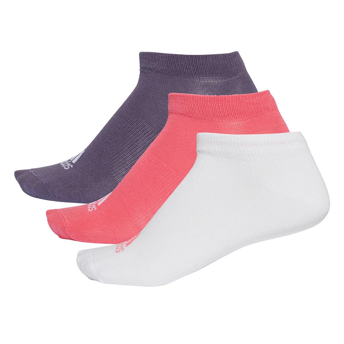 Meia Adidas Cano Baixo Thin pacote c/ 3 pares