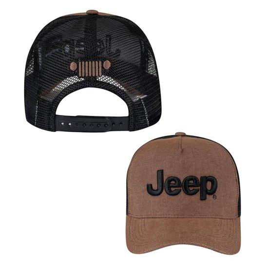 357b27a4826a1 Boné Jeep Trucker Clássico - Compre Agora