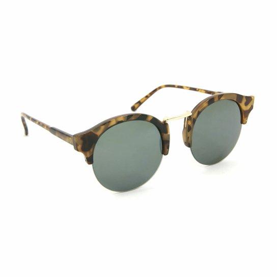 2895d3f59 Óculos Bijoulux de Sol Tigrado Clubmaster - Marrom ...