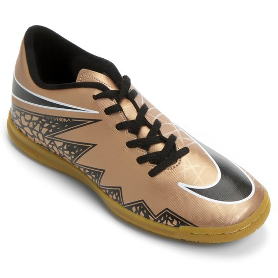 f08596ce9e770 Chuteira Futsal Nike Hypervenom Phade 2 IC - Marrom+Preto