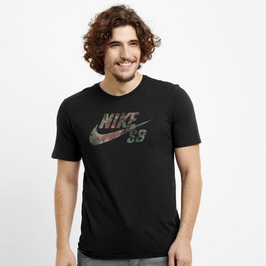 25b85a6cf3 Camiseta Nike SB Icon Camo Fill Tee - Compre Agora
