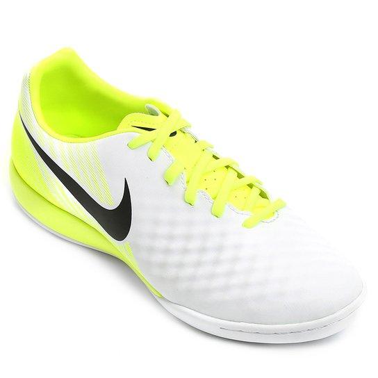 6c6e2c31356f6 Chuteira Futsal Nike Magista Onda II IC Masculina - Preto e Prata