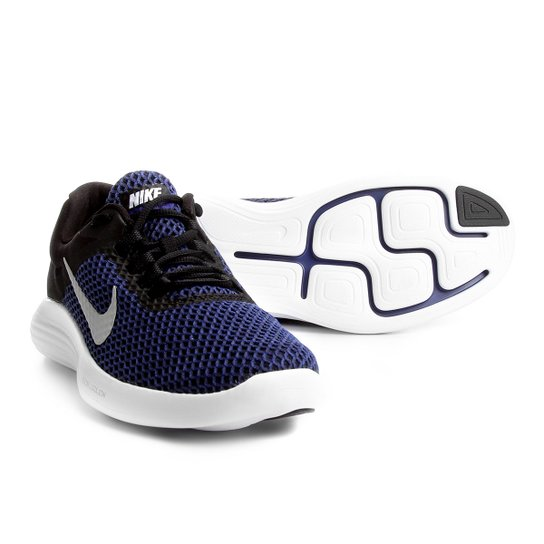 fbf3fbe4e1b Tênis Nike Lunarconverge 2 Masculino - Azul e Preto - Compre Agora ...