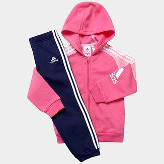 2cceb2d62 Agasalho Adidas Corp c/ Capuz Infantil