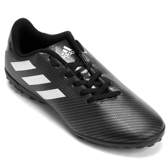 Chuteira Society Adidas Artilheira 17 TF - Preto e Prata - Compre ... 8faa2bbe861ea