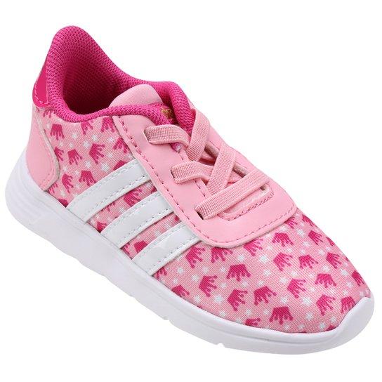 887ff91a623b5 Tênis Adidas Lite Racer Princess Infantil - Rosa e Branco | Netshoes