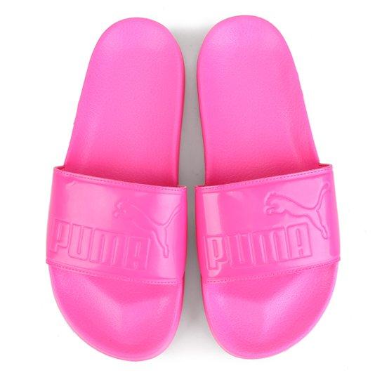 10de8b5ae44 Chinelo Slide Puma Leadcat Patent Feminino - Pink - Compre Agora ...