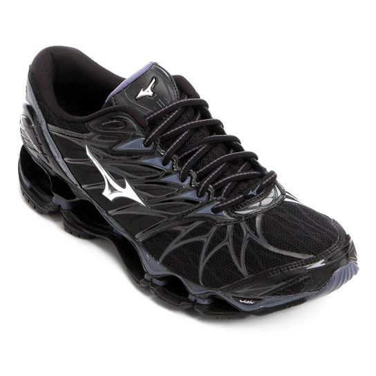 5d15ea8bd8 Tênis Mizuno Wave Prophecy 7 Masculino - Preto e Prata - Compre ...