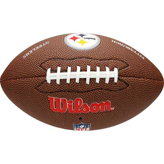Bola Futebol Americano Wilson NFL Pittsburgh Steelers - Marrom ... b56354f40f2e1