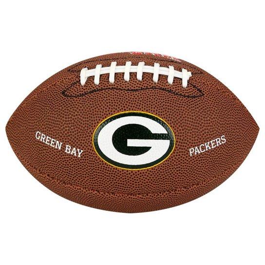 a1f7d9de6 Bola Futebol Americano Wilson Green Bay Packers - Marrom - Compre ...