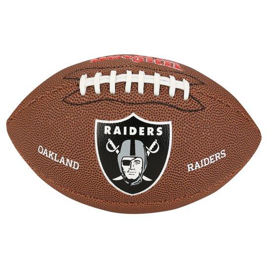 Bola Futebol Americano Wilson Oakland Raiders - Marrom - Compre ... b8f8f502f2ff7