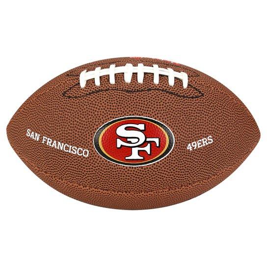 Bola Futebol Americano Wilson San Francisco 49ers - Marrom - Compre ... 93dfc9905998c