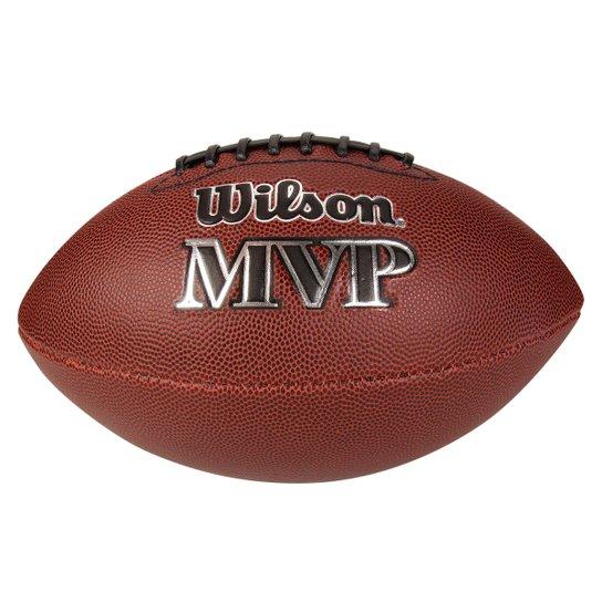 Bola Futebol Americano Wilson NFL MVP - Marrom - Compre Agora  973ad42bef647