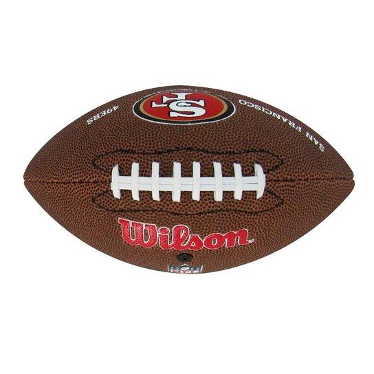 Bola De Futebol Americano Wilson San Francisco 49Ers - Marrom ... 0cf68cd5a02ad